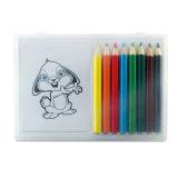 Le jeu de coloration dans le cadre clair contient 8 crayons en bois et 20 retraits de papier