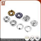 Personalizar puntas de metal redondo vestido de encaje de los botones de metal