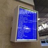 Montaje en pared alto brillo resistente al agua la pantalla LCD de pantalla de publicidad exterior