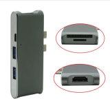 6 in 1 Doppel2 Typen c-aufladenkanal USB-3.1 + 4K HDMI Adapter + 2 Kanäle USB-3.0 + Mikro-SD/SD Kartenleser-Nabe für neues MacBook
