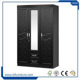 最もよい品質MDFの木の布3のドアのワードローブの戸棚Almirah