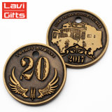 Großhandelsbillig kundenspezifische Entwurfs-Metallglückliche Hochschulandenken-Münze