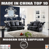 Strato in bianco e nero classico di lusso del sofà del cuoio di disegno