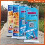 Heißer verkaufender Standardtür-Form-Standplatz-Bildschirmanzeige-einziehbarer Fahnen-Standplatz