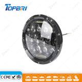 円形IP67ジープのラングラー75W LEDオフロードトラックのオートバイのヘッドライト