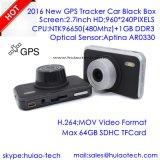 """2.7 """" 수신기 안테나, Google 지도 실행 뒤 추적를을 추적하는 GPS를 가진 소니 차 사진기 비디오 녹화기; 5.0mega FHD1080p 차 비행 기록 장치, 주차 통제 캠"""