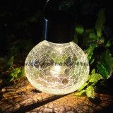 Las tapas de tarro solar Luz, el crepitar de las luces colgantes de cristal LED blanco cálido al aire libre colgante de acero inoxidable tapa Linterna Globe