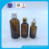 Botellas de vidrio ámbar con gotas de aceite esencial Flug