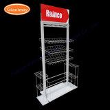 Оптовый стеллаж для выставки товаров держателя провода металла зонтика с корзинами
