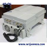 80W hohe Leistung G/M, CDMA, PCS, DCS-zellularer Handy-Signal-Hemmer (3G 4G wahlweise freigestellte Frequenz)