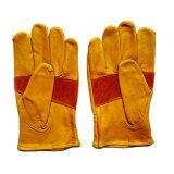 Перчатки Rigger безопасности кожи с сохранённым природным лицом коровы подкрепления для работы