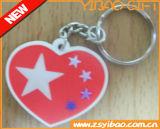 Corrente chave macia do PVC do logotipo feito sob encomenda para presentes relativos à promoção