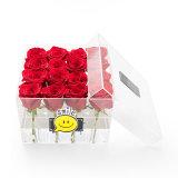 Caixa acrílica feito-à-medida da flor do casamento com gaveta