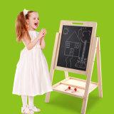 나무로 되는 두 배 분리가능한 이젤 아이들 장난감이 자석 그림 쓰기 백묵 널에 의하여 농담을 한다
