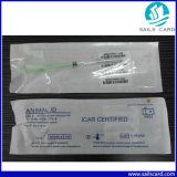 Icar a reconnu le constructeur de la seringue animale 2.12X12mm de puce d'IDENTIFICATION RF
