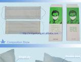 Dos capas de papel de la mascarilla con elástico