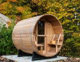 Una sauna esterna del barilotto di sauna del cedro del grado per la casa