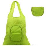 Sac à provisions en nylon pliable de tissu de logo de mode réutilisable faite sur commande d'étiquette