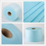 Mercancías azules del rodillo de Spunbond Nonwovne para el uso médico disponible