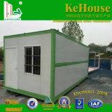 鉄骨構造のプレハブの庭の家が付いている低価格20FTの容器の家、経済的な移動式容器の家