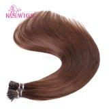 K.Sのかつらカラー#4バージンのRemyの人間の毛髪の拡張私は毛をひっくり返す