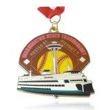 Kundenspezifisches geformtes Metallfördernde Medaille mit Farbband