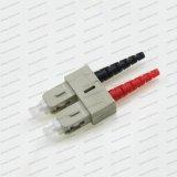 De Schakelaar van de Optische Vezel Dx van Sc Sm/mm/APC/Om3/Om4