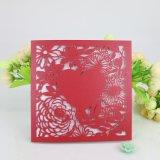Qualitäts-Perlen-Papier-Laser-Art-Hochzeits-Einladungs-Karte