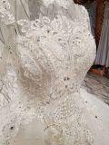 선 Champagne 경례군악 높은 목 웨딩 드레스