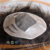 Toupee del Mens del pelo humano (PPG-l-01412)