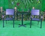 Het Dineren van het Bamboe van Textilene van het Terras van het Bureau van het Huis van het Hotel van Polywood van het aluminium OpenluchtStoel (J8131+J8406)