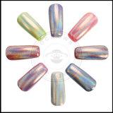 Ganz eigenhändig geschrieber Laser-Nagel Holo glänzendes Funkeln-Regenbogen-Chrom-Pigment-Puder
