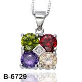 [نو مودل] فضة مجوهرات مدلّاة مع يلوّن [كز] حجارة