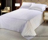Tela di base bianca a strisce dell'hotel 300tc del lenzuolo del tessuto di cotone