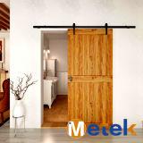 Matériel de haute qualité d'acier du carbone de porte de grange de porte coulissante de bois de construction