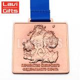 Médaille japonaise de samouraï de vente de récompense en métal fait sur commande bon marché chaud de souvenir