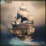 Coloré de la mer réalistes Sailing Ship Art Décoratif peinture sur verre pour la décoration murale (MR-YB17-828)