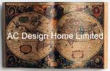 لون كلاسيكيّة أسود شامل خريطة [بو] [لثر/مدف] خشبيّة كتاب شكل جدار فنية