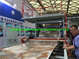 높은 광택 UV 장식적인 PVC 대리석 장 생산 라인