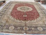 400 lignes Handmade tapis en soie