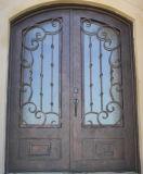 Fantastisches kundenspezifisches Eisen-doppelte Tür mit Glas