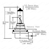 [لموسنو] ذاتيّة [ه11] هالوجين مصباح أبيض فائقة [12ف] [55و] [100و]