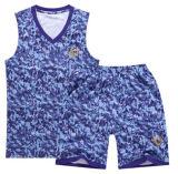 Uomini del vestito di pallacanestro delle parti superiori di serbatoio del camuffamento di forma fisica di ginnastica