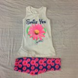 Vestiti dei vestiti della neonata dei capretti di estate per i bambini che coprono usura Sq-6671