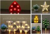 장식적인 휴일 큰천막 빛 크리스마스 LED 편지