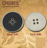 Four-Hole ABS Buttons con Black Enamel