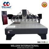 Máquina de madera de la carpintería del CNC de la maquinaria del grabado de los muebles de la puerta (VCT-2125W-8H)