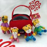 Комплект игрушки семьи тигра плюша