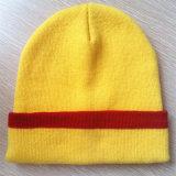 Chapeau brodé à rayures No Eaves Bonnet Bonnet en tricot