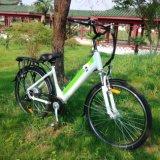 隠された電池が付いている26inch都市電気自転車